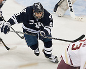 Josh Balch (Yale - 8) - The Boston College Eagles tied the visiting Yale University Bulldogs 3-3 on Friday, January 4, 2013, at Kelley Rink in Conte Forum in Chestnut Hill, Massachusetts.