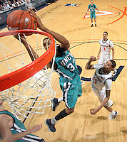 Virginia beat UNC Wilmington 69-67 Monday Jan. 18, 2010 in Charlottesville, Va. UNC Wilmington's John Fields (Photo/The Daily Progress/Andrew Shurtleff)