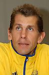 Handball Maenner Laenderspiel, Nationalmannschaft Deutschland - Schweden (31:31) Preussag Arena Hannover (Germany) Magnus Wislander (SWE) close