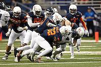 SAN ANTONIO, TX - NOVEMBER 21, 2015: The University of Texas at San Antonio Roadrunners defeat the Rice University Owls 34-24 in the Alamodome. (Photo by Jeff Huehn)