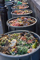 Compost collection at the Greenmarket in Union Square in New York on Saturday, November 8, 2014. (© Richard B. Levine)