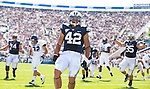 _87R0588..2012 FTB vs Weber State University..BYU - 45.Weber State - 6. .Photo by Jaren Wilkey/BYU..September 8, 2012..© BYU PHOTO 2012.All Rights Reserved.photo@byu.edu  (801)422-7322