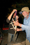 Richard & Kevin Weighing Crocodile