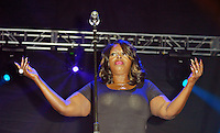 LOS ANGELES, CA -JULY 23: Singer Angie Stone performs at the 1st Annual Los Angeles Soul Music Festival at the Autry in Griffith Park on July 23, 2016 in Los  Angeles, California. Credit: Koi Sojer/Snap'N U Photos/MediaPunch
