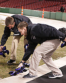 ?, Cameron Parker - The Bentley University Falcons defeated the College of the Holy Cross Crusaders 3-2 on Saturday, December 28, 2013, at Fenway Park in Boston, Massachusetts.