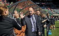 Portland, OR - Saturday April 15, 2017:  Mark Parsons during a regular season National Women's Soccer League (NWSL) match between the Portland Thorns FC and the Orlando Pride at Providence Park.