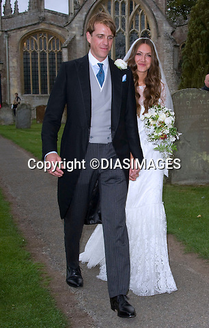 """BEN ELLIOT AND MARY CLARE WINWOOD WEDDING.Camilla, Duchess of Corwall's nephew Ben Elliot and Mary Clare Winwood daughter of musician Steve Winwood tied the knot at the Church of St Peter & St Paul, Northleach_Gloucestershire_10/09/2011.Mandatory Credit Photo: ©DiasImages/NEWSPIX INTERNATIONAL..**ALL FEES PAYABLE TO: """"NEWSPIX INTERNATIONAL""""**..IMMEDIATE CONFIRMATION OF USAGE REQUIRED:.Newspix International, 31 Chinnery Hill, Bishop's Stortford, ENGLAND CM23 3PS.Tel:+441279 324672  ; Fax: +441279656877.Mobile:  07775681153.e-mail: info@newspixinternational.co.uk"""