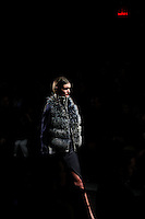 New york, United States. 7th February 2013 -- A model displays a creation by Timo Weiland during New York Fashion Week, MBFW 2013 in New York. Photo by Kena Betancur / VIEWpress.