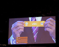 USA is placed in Italy's group. The final draw for the 2006 FIFA World Cup took place in the Congress Centre in Leipzig, Germany on December 9 2005.