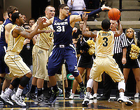 WEST LAFAYETTE, IN - DECEMBER 01: Isaiah Philmore #31 of the Xavier Musketeers reaches for a loose ball against the Purdue Boilermakers at Mackey Arena on December 1, 2012 in West Lafayette, Indiana. Xavier defeated Purdue 63-57. (Photo by Michael Hickey/Getty Images) *** Local Caption *** Isaiah Philmore