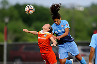 Piscataway, NJ - Saturday May 20, 2017: Andressa, Raquel Rodriguez during a regular season National Women's Soccer League (NWSL) match between Sky Blue FC and the Houston Dash at Yurcak Field.  Sky Blue defeated Houston, 2-1.