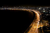The panaromic view of 'The Queens Neclace' of Mumbai.