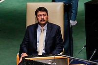 New York City, NY. 25 September 2014.  János Áder the President of Hungary attends the 69th United Nations General Assembly at United Nations Headquarters.  Photo by Kena Betancur/VIEWpress