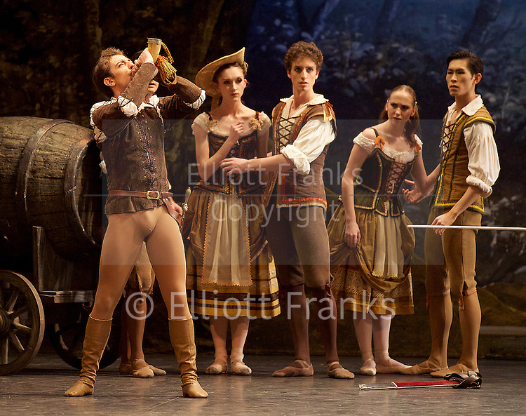 Giselle <br /> English National Ballet at The London Coliseum, London, Great Britain <br /> rehearsal <br /> 10th January 2017 <br /> <br /> <br /> Fernando Bufala as Hilarion <br /> <br /> <br /> <br /> Photograph by Elliott Franks <br /> Image licensed to Elliott Franks Photography Services