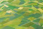 Aerial of farmlands in Ethiopia.