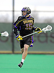 14 April 2007: University of Albany Great Danes' Andrew Maini, a Senior from Lynbrook, NY, in action against the University of Vermont Catamounts at Moulton Winder Field, in Burlington, Vermont. The Great Danes defeated the Catamounts 14-7...Mandatory Photo Credit: Ed Wolfstein Photo