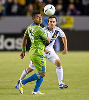 CARSON, CA - November 11, 2012: LA Galaxy vs the Seattle Sounders at the Home Depot Center in Carson, California. Final score LA Galaxy 3, Seattle Sounders 0.
