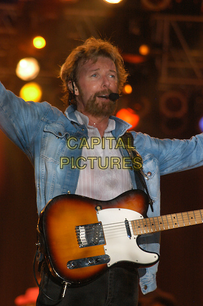 RONNIE DUNN (BROOKS & DUNN).Jamboree in the Hills  .Morristown, 16th July 2005.stage gig country music festival half length microphone juitar.Ref: Kelly Belcher.www.capitalpictures.com.sales@capitalpictures.com.© Capital Pictures.