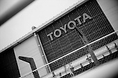 Toyota City, Japan.June 15, 2009..Toyota City, the Detroit of Japan, and home of Toyota car manufacturing company. Toyota Motor Kamigo Center behind rungs of bard wire and high fences.