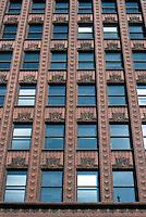 Louis Sullivan: Guaranty Bldg. Upper facade.  Photo '88.