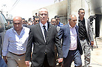 Palestinian Prime Minister Rami Hamdallah inspects the Dawabsheh home that was badly damaged from a suspected attack by Jewish extremists on two houses in the West Bank village of Douma near Nablus City, 31 July 2015. Suspected Jewish attackers torched a Palestinian home in the occupied West Bank on Friday, killing an 18-month-old toddler and seriously injuring three other family members, an act that Israel's prime minister described as terrorism. Photo by Prime Minister Office