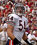 Chicago Bears linebacker Brian Urlacher (54) on Sunday, September 7, 2003, in San Francisco, California. The 49ers defeated the Bears 47-7.
