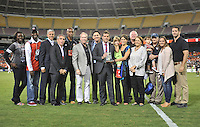 D.C. United Head Coach Ben Olsen with friends and family members in the day of his induction to the D.C. United Hall of Fame. D.C. United defeated The New England Revolution 2-1 at RFK Stadium, Saturday September 15, 2012.