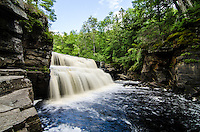Canyon Falls on the Sturgeon River in Baraga County. 15 miles south of L'Anse, MI.