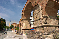 Galerius Arch of Triumph. Rotonda church. Thessaloniki, Macedonia, Greece