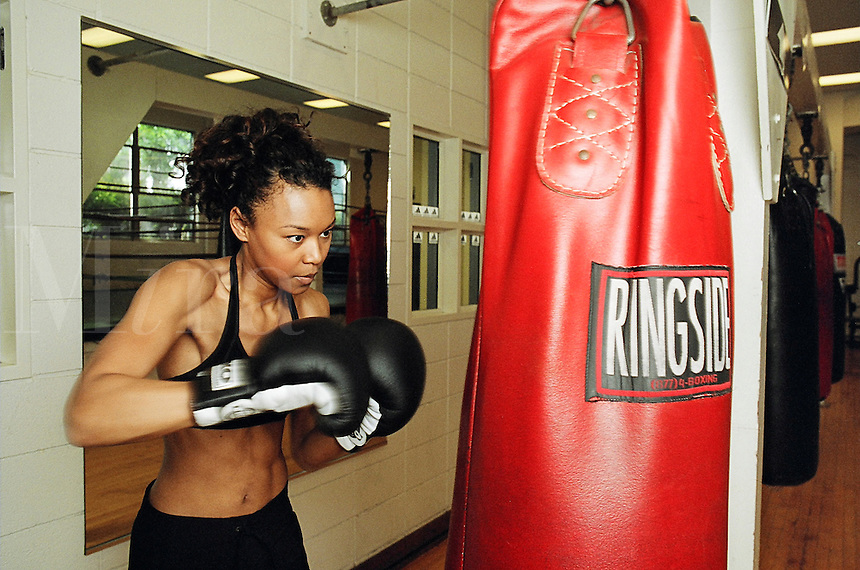 young woman in boxing workout..MR