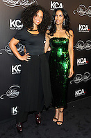 NEW YORK, NY - OCTOBER 19: Alicia Keys and  Padma Lakshmi attends Keep A Child Alive's Black Ball 2016 at Hammerstein Ballroom on October 19, 2016 in New York City. Photo by John Palmer/MediaPunch