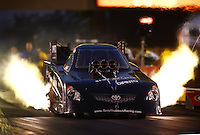 Jun. 30, 2012; Joliet, IL, USA: NHRA funny car driver Terry Haddock during qualifying for the Route 66 Nationals at Route 66 Raceway. Mandatory Credit: Mark J. Rebilas-