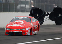 Feb 10, 2017; Pomona, CA, USA; NHRA pro stock driver Drew Skillman during qualifying for the Winternationals at Auto Club Raceway at Pomona. Mandatory Credit: Mark J. Rebilas-USA TODAY Sports