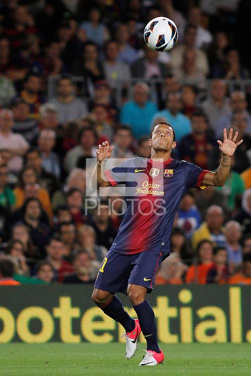 02/09/2012 - Liga Football Spain, FC Barcelona vs. Valencia CF Matchday 3 - Adriano, brazilian left defense player of FC BArcelona