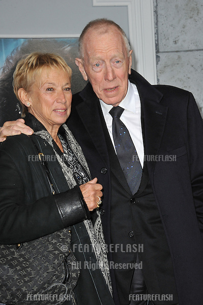 """Max von Sydow at the Los Angeles premiere of """"Sherlock Holmes: A Game of Shadows"""" at the Village Theatre, Westwood..December 6, 2011  Los Angeles, CA.Picture: Paul Smith / Featureflash"""