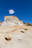 Sandstone outcrops and hoodoos at Castle Gardens in central Wyoming