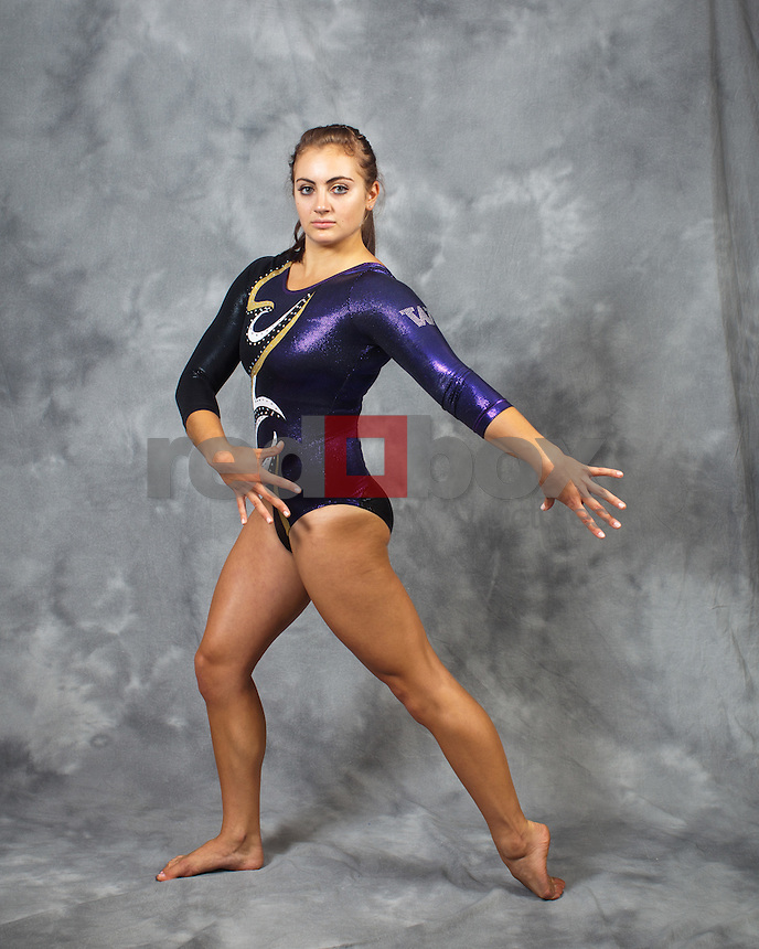 Aliza Vaccher..---------2011-2012 University of Washington Gymnastics team photographed on Thursday, September 22, 2011. (Photo by Dan DeLong/Red Box Pictures)