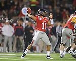 Ole Miss' Barry Brunetti (11) vs. LSU at Vaught-Hemingway Stadium in Oxford, Miss. on Saturday, November 19, 2011.