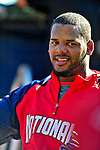 9 March 2009: Washington Nationals' outfielder Wily Mo Pena warms up prior to a Spring Training game against the Houston Astros at Space Coast Stadium in Viera, Florida. The Nationals defeated the Astros 8-6 in extra innings of the Grapefruit League matchup. Mandatory Photo Credit: Ed Wolfstein Photo