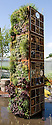 "Tower containing living wall and bug boxes or insect hotels. ""Future Nature"" Garden, by Ark Design Management Ltd, RHS Chelsea Flower Show 2009."