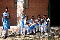 Indian Hindu schoolchildren at state school at Kaparda village in Rajasthan, Northern India