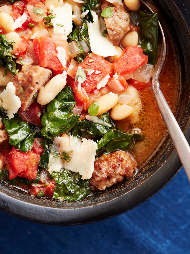 White Bean and Kale Soup with Italian Sausage