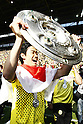 Shinji Kagawa (Dortmund), MAY 14th, 2011 - Football : Shinji Kagawa of Dortmund celebrates with the Bundesliga Champions trophy &quot;Meisterschale&quot; after the Bundesliga match between Borussia Dortmund and Eintracht Frankfurt at the Signal Iduna Park in Dortmund, Germany, 14 May 2011. (Photo by AFLO) [3604]...