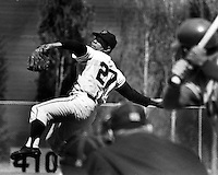 Giant pitcher Juan Marichal winds up. (1966 photo by .Ron Riesterer)