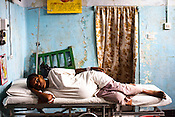 20 year Ramita Devi, one of the pregnant women is seen resting in the maternity ward of Duncan Hospital in Raxaul of East Champaran district of Bihar, India. Since 2008 the Foundation and Geneva Global have been investing in the training of medical staff to improve the lives of people living in 600+ villages in the region. The NGOs are delivering cost effective interventions to address treatment, care and prevention of diseases, disability and preventable deaths amongst infants, adolescent girls and women of child-bearing age. There is statistical and anecdotal evidence that there have been vast improvements and a total of 40-50% increased immunization for all children under 6 has meant that communities can be serviced and educated long term. Photograph: Sanjit Das/Panos for Legatum Foundation