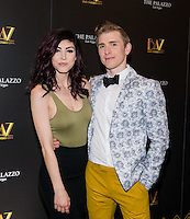 LAS VEGAS, NV - July 12, 2016: ***HOUSE COVERAGE*** Briana Cuoco and Payson Lewis pictured as BAZ  -Star Crossed Love Opening Night arrivals at The Palazzo Theater at The Palazzo Las Vegas in Las vegas, NV on July 12, 2016. Credit: Erik Kabik Photography/ MediaPunch