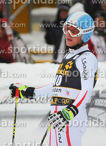15.12.2012, Sasslong, Groeden, ITA, FIS Weltcup, Ski Alpin, Abfahrt, Herren, im Bild Frederic Berthold (AUT) // Frederic Berthold of Austria reacts after his Downhill run of the FIS Ski Alpine Worldcup at the Sasslong course, Groeden, Italy on 2012/12/15. EXPA Pictures © 2012, PhotoCredit: EXPA/ Erich Spiess