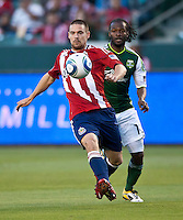 CARSON, CA – June 3, 2011: Chivas USA defender Heath Pearce (3) during the match between Chivas USA and Portland Timbers at the Home Depot Center in Carson, California. Final score Chivas USA 1, Portland Timbers 0.