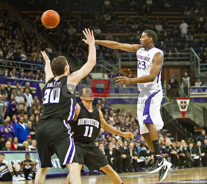 C.J. Wilcox..---NIT second round game: Washington Huskies men's basketball against the Northwestern Wildcats at Alaska Airlines Arena at Hec Edmundson Pavilion in Seattle on Friday, March 16, 2012. (Photo by Dan DeLong/Red Box Pictures)
