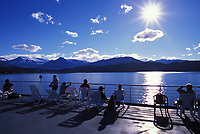 Alaska marine ferry in the inside passage between Juneau and Sitka, Alaska